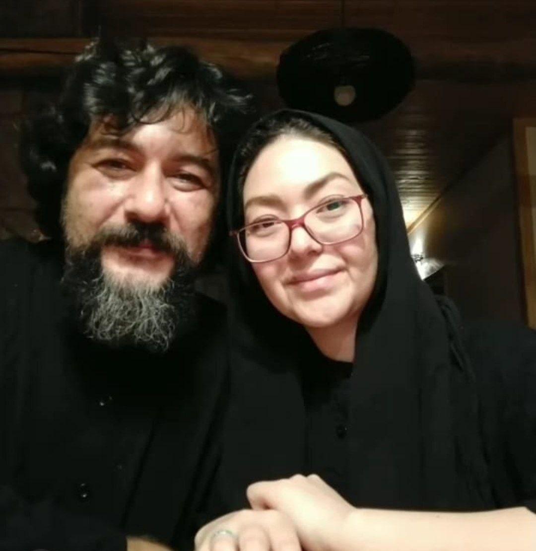 امیر حسین صدیق و همسرش