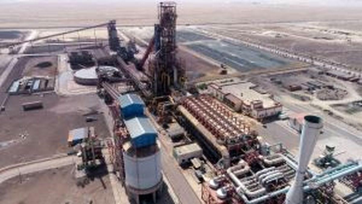 ثبت رکورد ماهیانه تولید محصول در واحد احیاء مستقیم فولاد سفیددشت