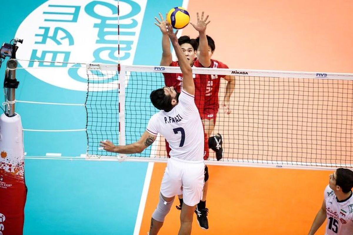 نتیجه بازی تیم ملی والیبال ایران و ژاپن