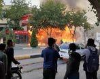 اعتراضات مردمی در پی گران شدن بنزین/ بیش از ۱۰۰ بانک و فروشگاه غارت شد+تصاویر