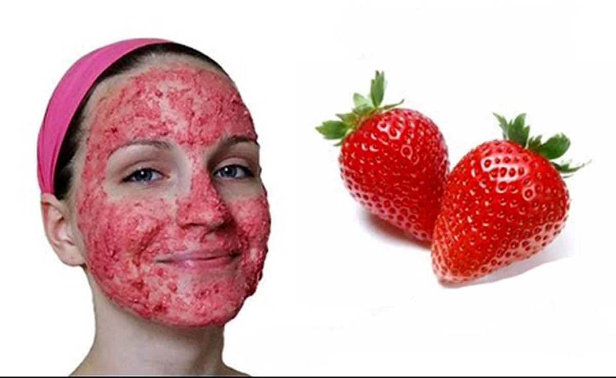 طرز تهیه ماسک توت فرنگی برای صورت