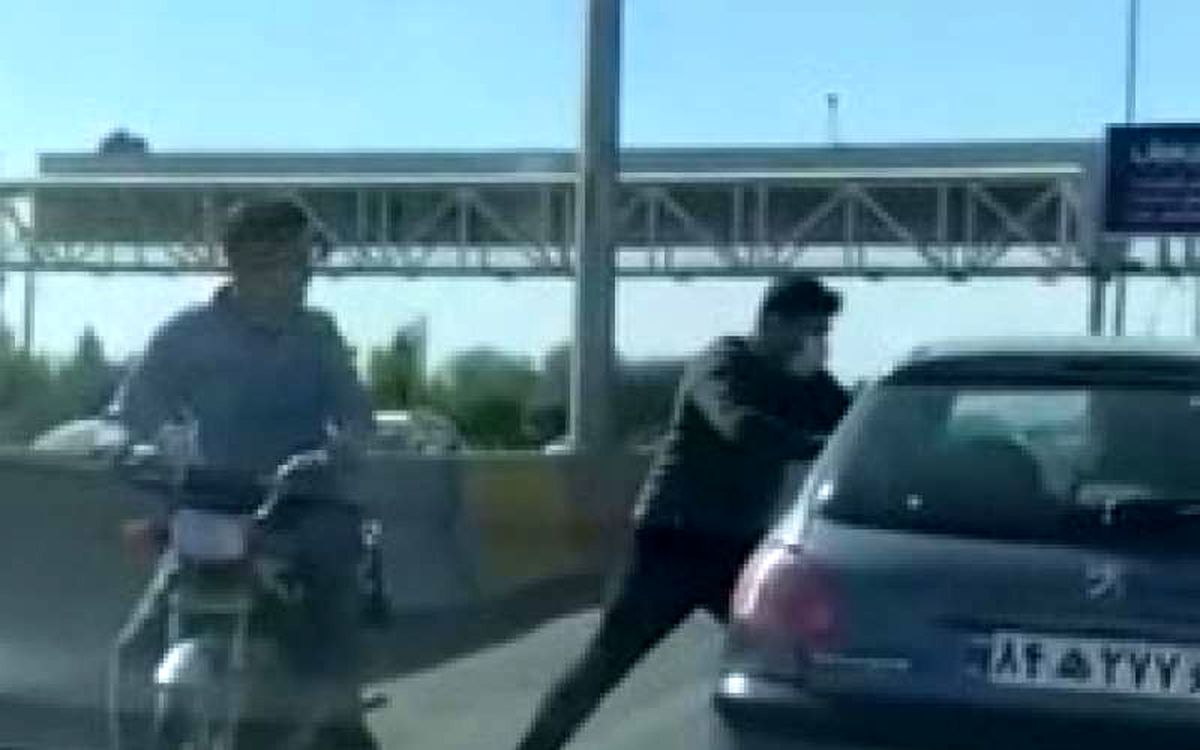 زورگیری مسلحانه در اتوبان کرج + فیلم