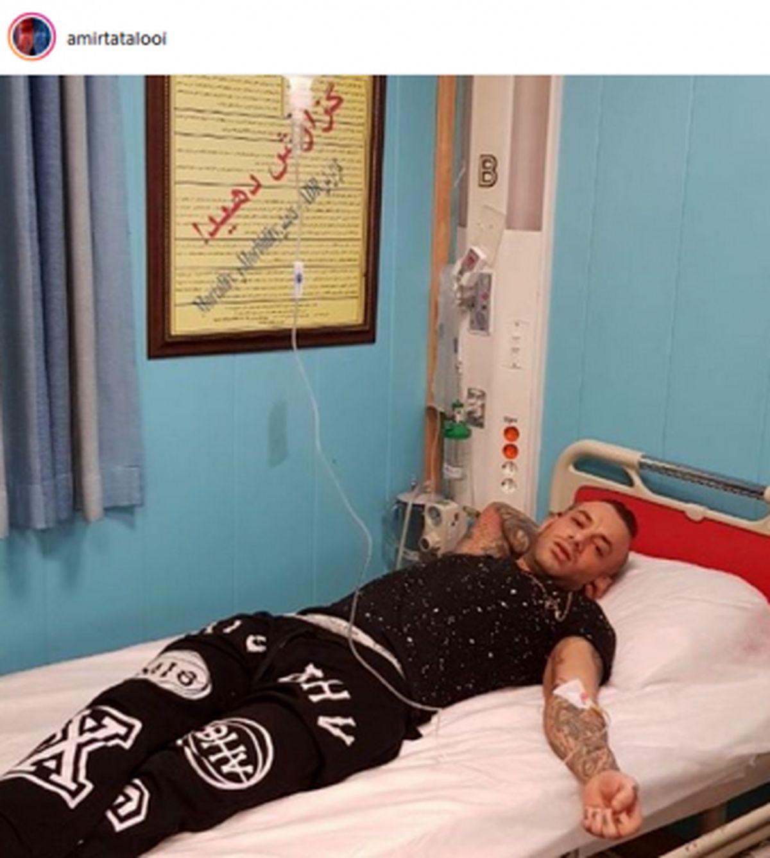 عکس تتلو روی تخت بیمارستان