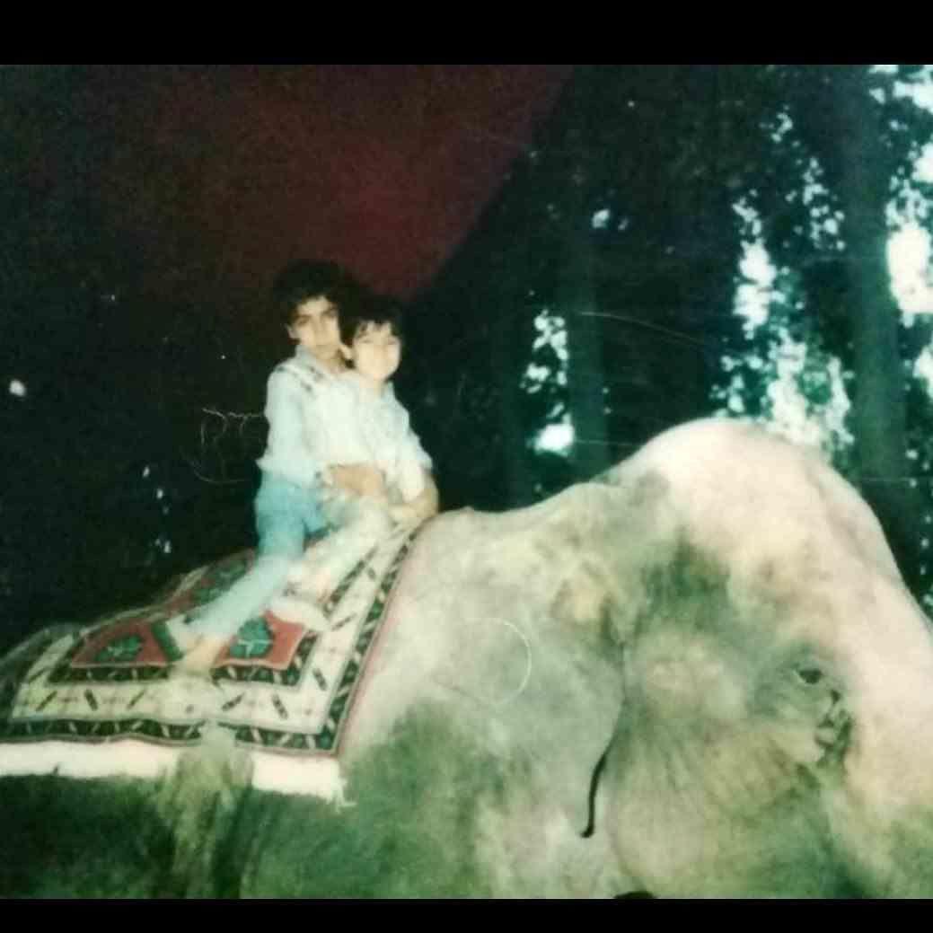 فیل سواری محسن تنابنده و برادرش