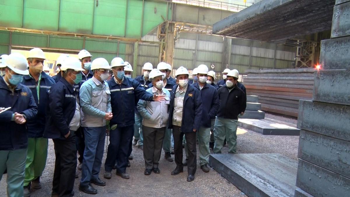 بومی سازی تختال ۳۰۰ میلیمتر در فولاد مبارکه