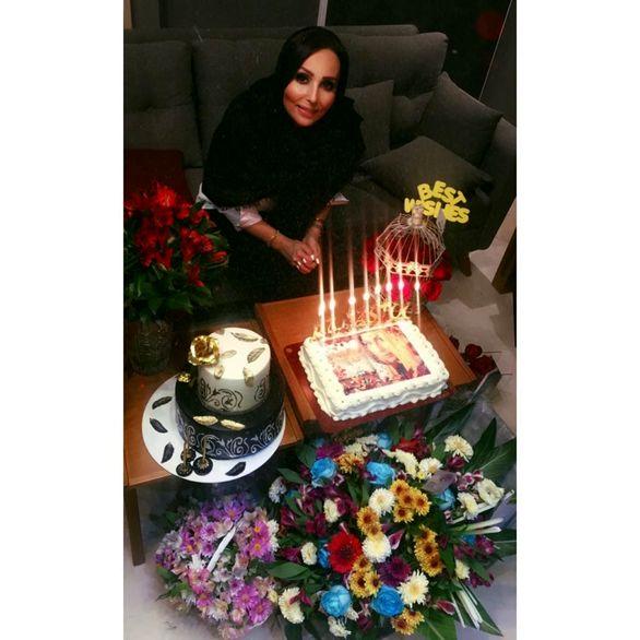 جشن 42 سالگی پرستو صالحی  + تصاویر