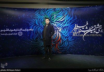 پیام اینالویی بازیگر در هفتمین روز سی و هشتمین جشنواره فیلم فجر در پردیس چارسو