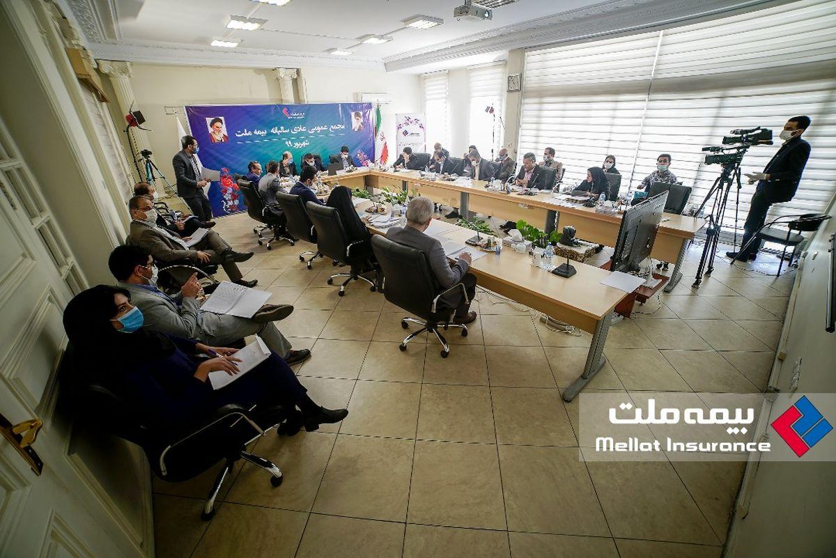 مجمع عمومی عادی سالیانه بیمه ملت به صورت آنلاین برگزار شد