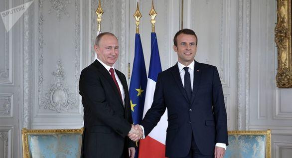 مذاکرات رسمی پوتین و مکرون برای برجام