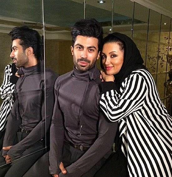 روناک یونسی و همسرش