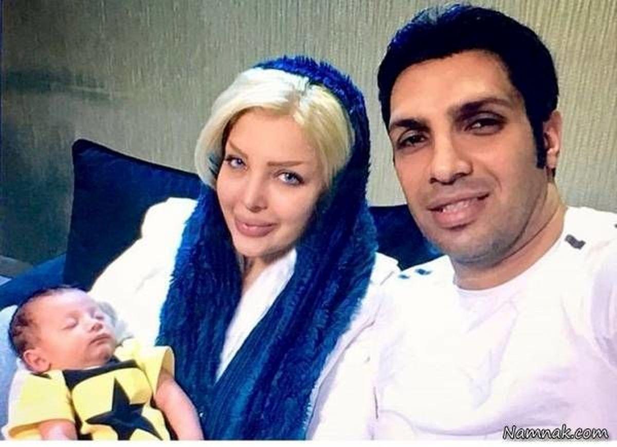 عکس سپهر حیدری در کنار همسر و فرزندش در بیمارستان + عکس