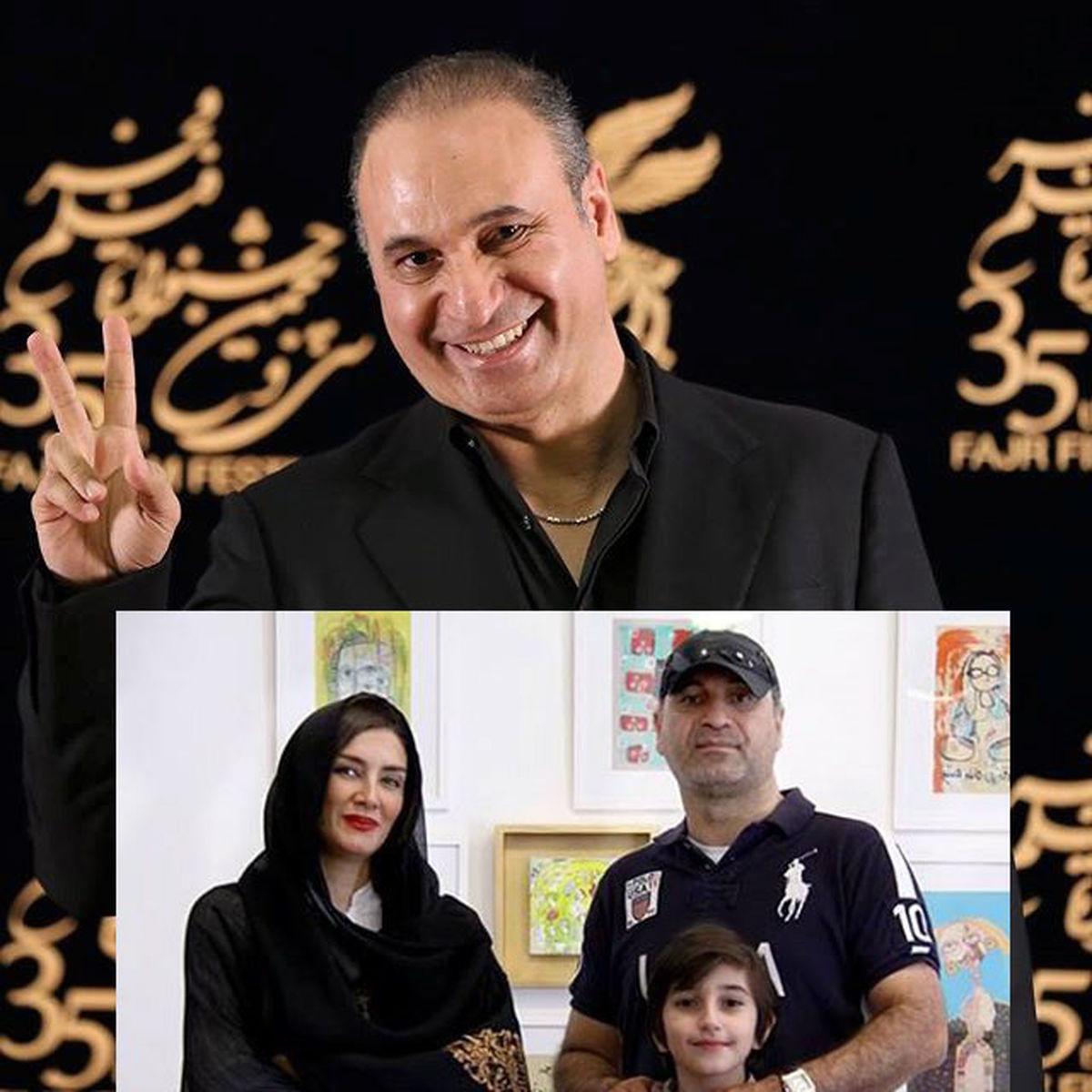 بیوگرافی حمید فرخ نژاد بازیگر سریال میدان سرخ | عکسهای حمید فرخ نژاد و همسرش