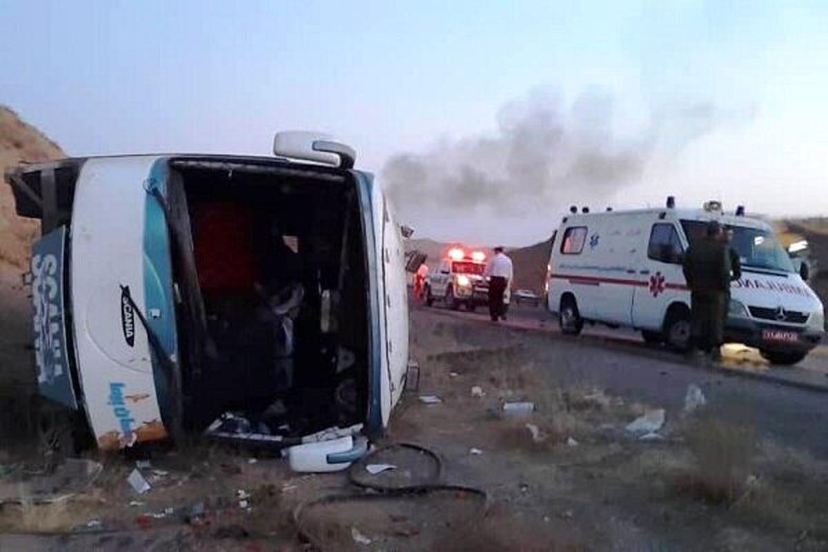 واژگونی اتوبوس در جاده تبریز - صوفیان یک کشته داد