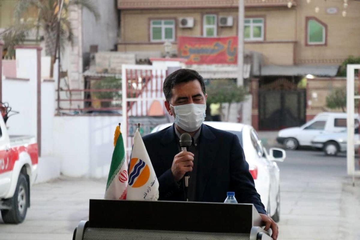 تجلیل از آتش نشانان منطقه آزاد قشم