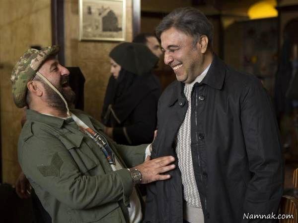 مهران احمدی در کنار رضا عطاران