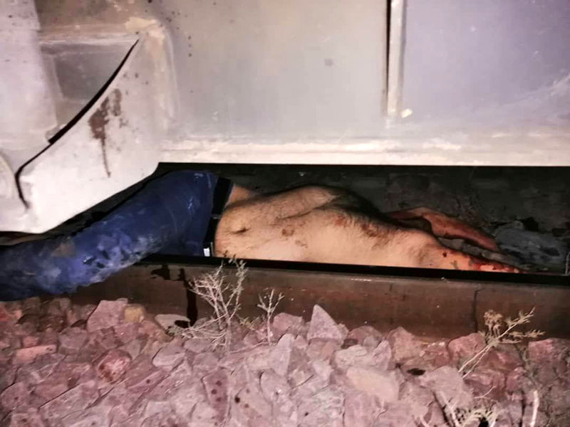 خودکشی زیر قطار مسافربری (1)