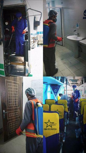 ضد عفونی کردن بخش های عمومی شرکت صنعتی و معدنی توسعه فراگیر سناباد