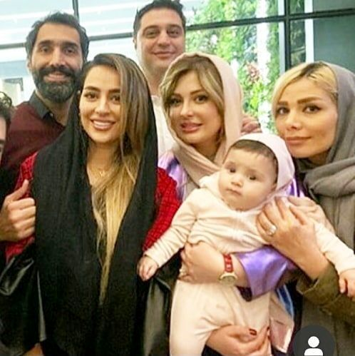 همسر مهران غفوریان درکنار نیوشا ضیغمی و سمانه پاکدل/عکس