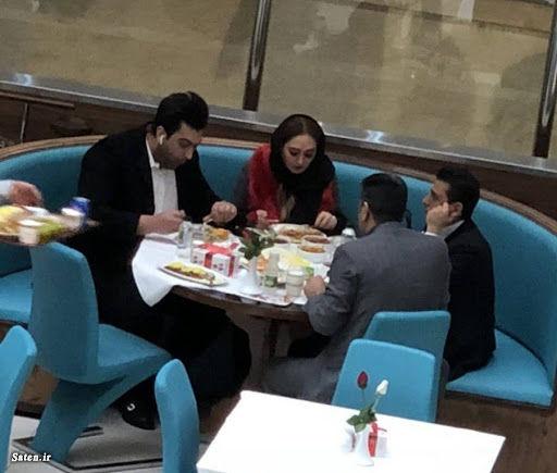 اولین عکس از الهام حمیدی و همسر جدیدش علیرضا صادقی   ساتین