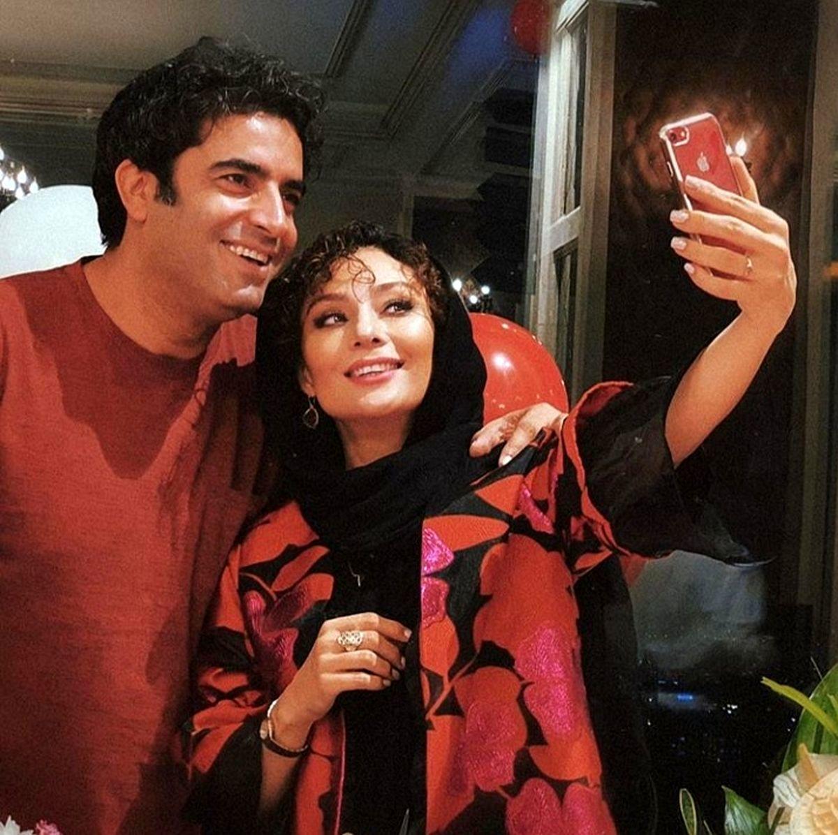 یکتا ناصر از خواهر و شوهر خواهرش رونمایی کرد + عکس