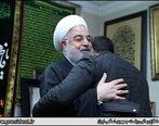 حضور روحانی در منزل سردار شهید سلیمانی /تسلیت به همسر و فرزندان حاج قاسم +عکس