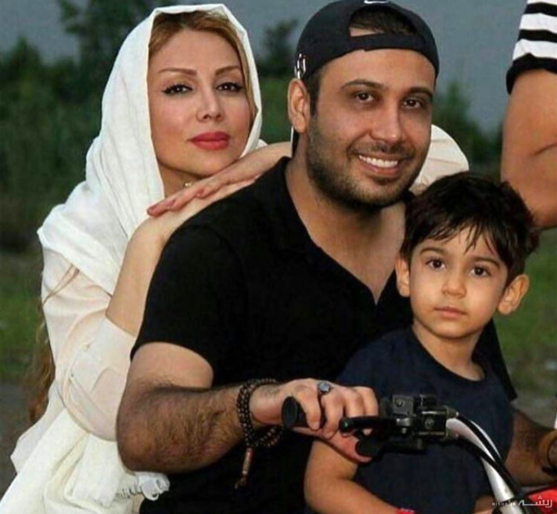 "محسن چاوشی""، همسر و پسرش سوار بر موتور"
