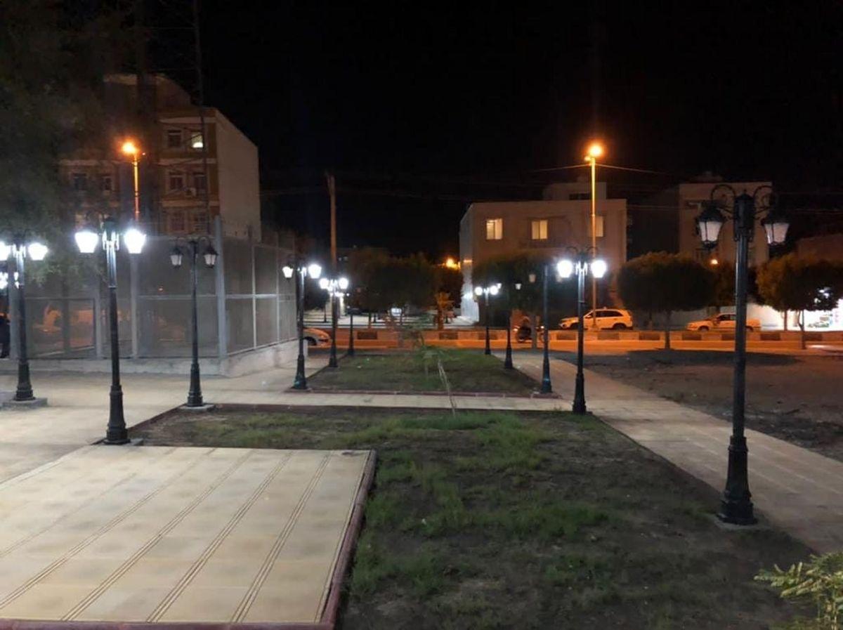 تأمین روشنایی فضاهای سبز محلات شهر قشم