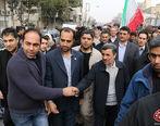 تصویری از محمود احمدی نژاد در راهپیمایی 22 بهمن + عکس
