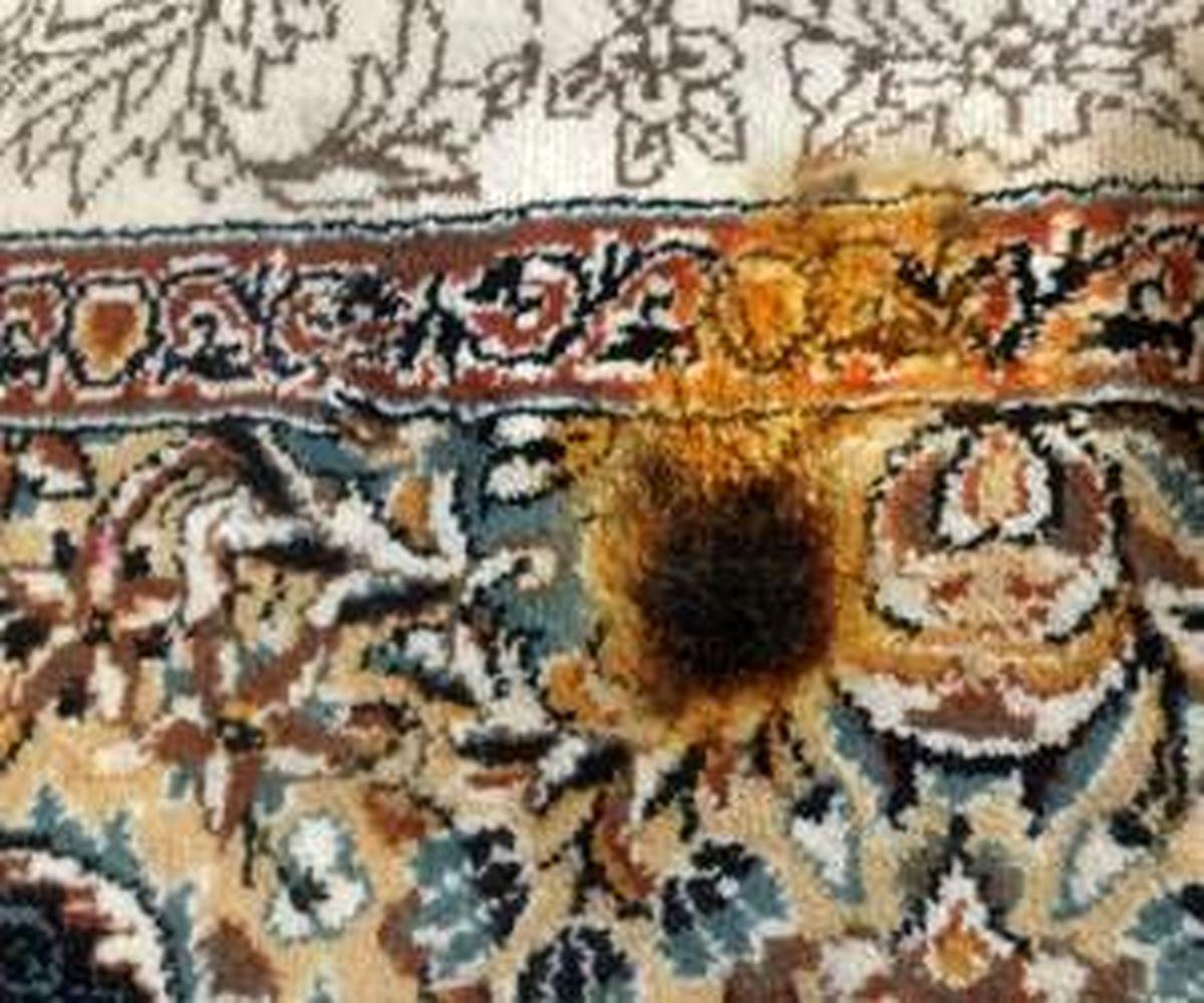 سوختگی فرش را چگونه برطرف کنیم؟