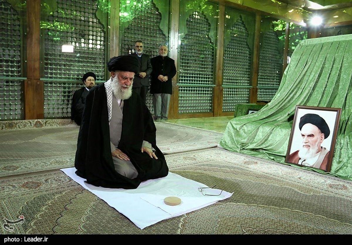 حضور امام خامنهای در مرقد امام خمینی(ره) و گلزار شهدا