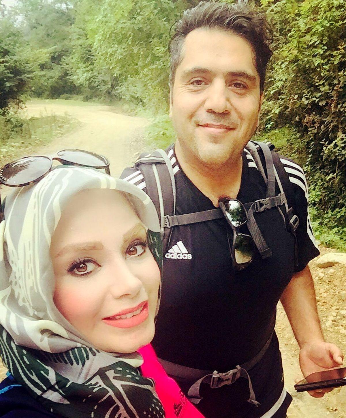 صبا راد در آغوش همسرش رسماً کشف حجاب کرد+عکس