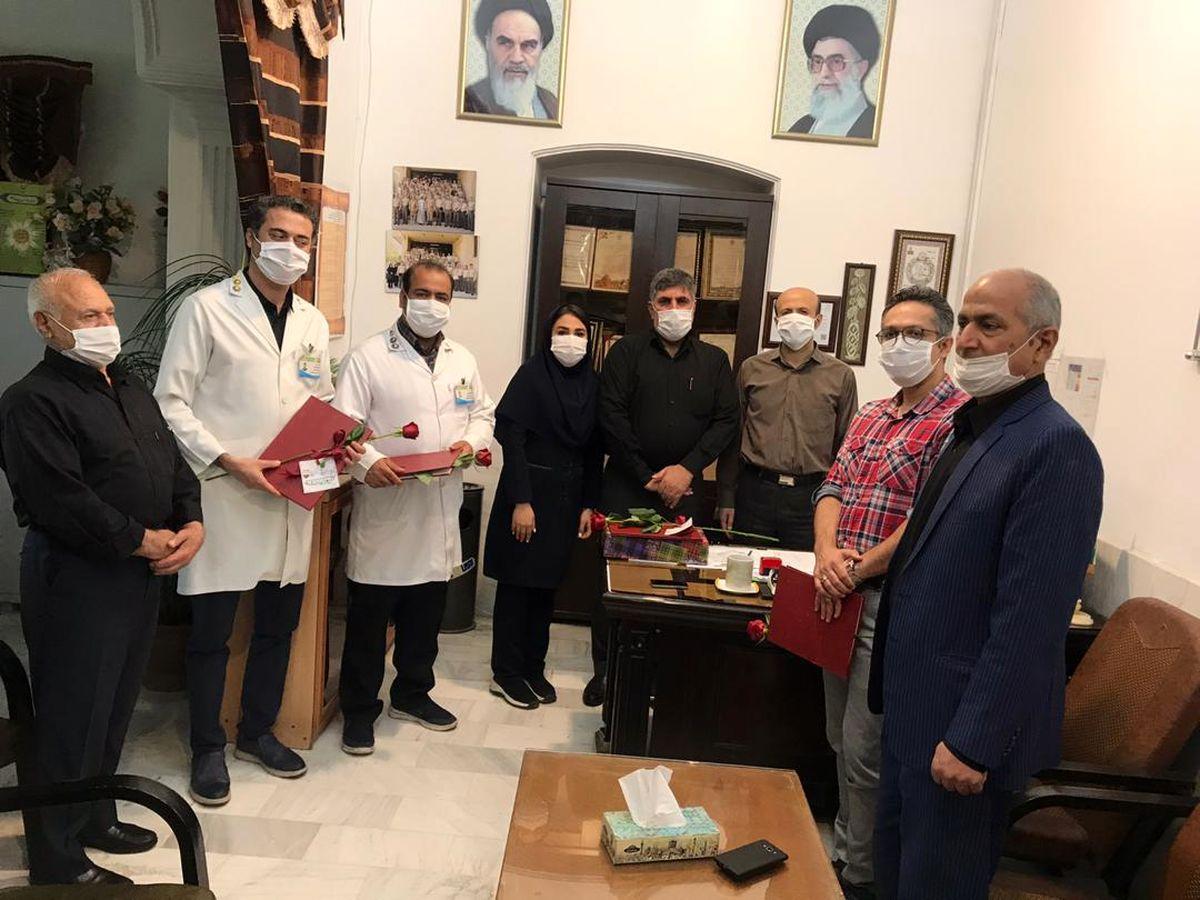 تقدیر از مدافعان سلامت توسط نمایندگان بیمه حکمت در استان گلستان