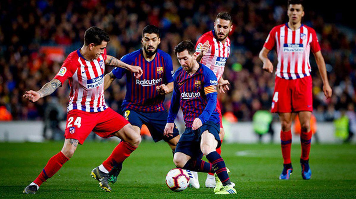 اتلتیکو 0-1 بارسا: بارسلونا به صدر بازگشت + تصاویر