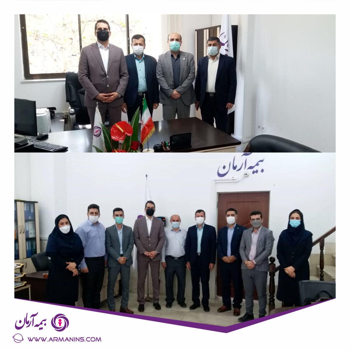 برگزاری جلسه معارفه رئیس شعبه ساری بیمه آرمان