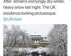 توئیت سفیر انگلیس درباره برف تهران +عکس