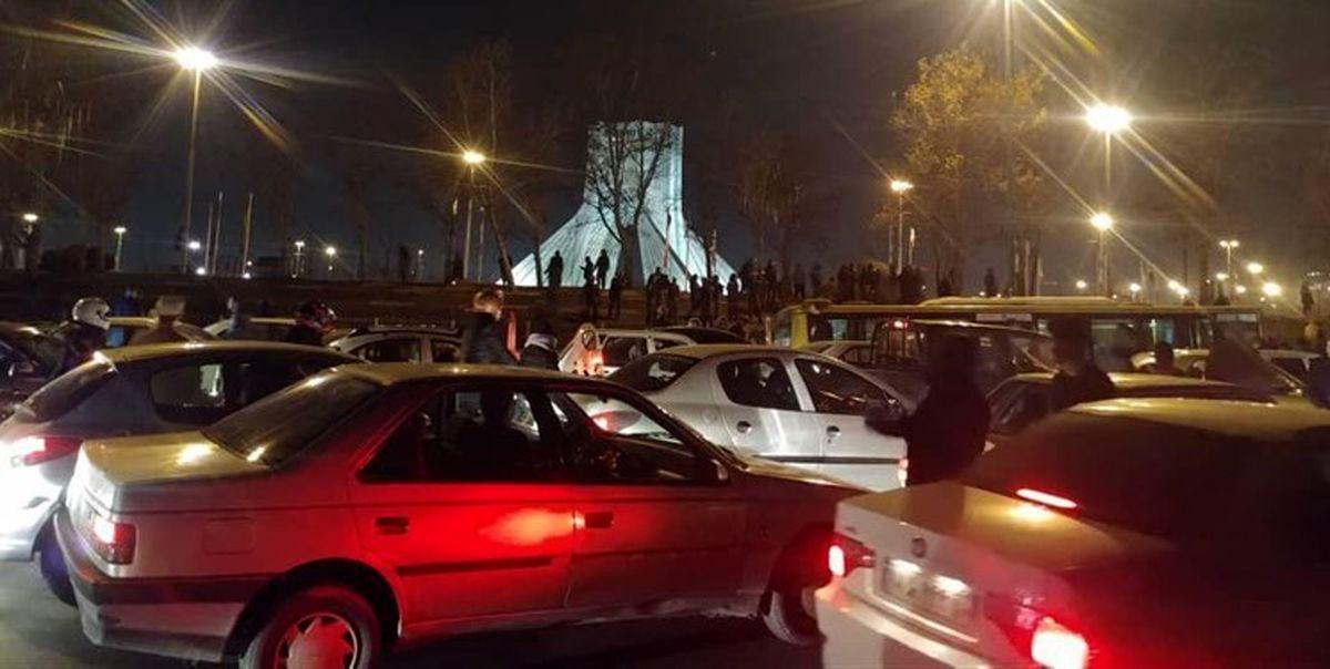 وضعیت تهران بعد از اعتراض های امروز + فیلم