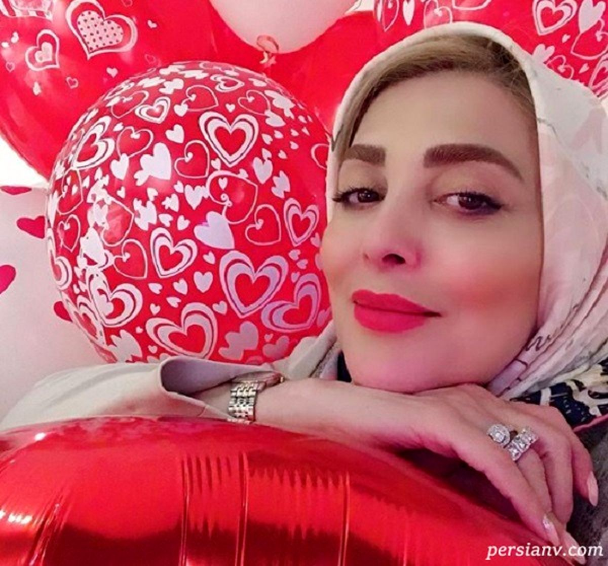 جشن تولد شیک و لاکچری ژیلا صادقی مجری معروف + تصاویر