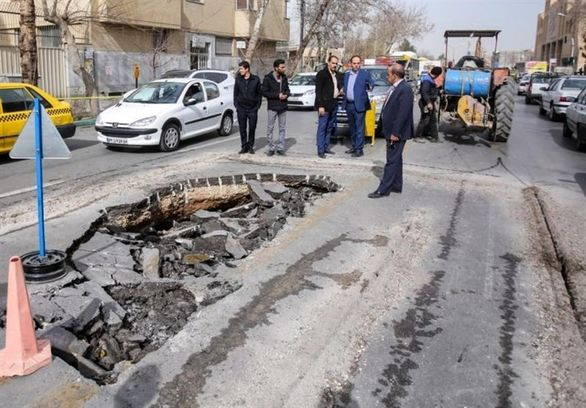هشدار فرونشست زمین در تهران / 2 فروریزش در شهریار و تهران + عکس