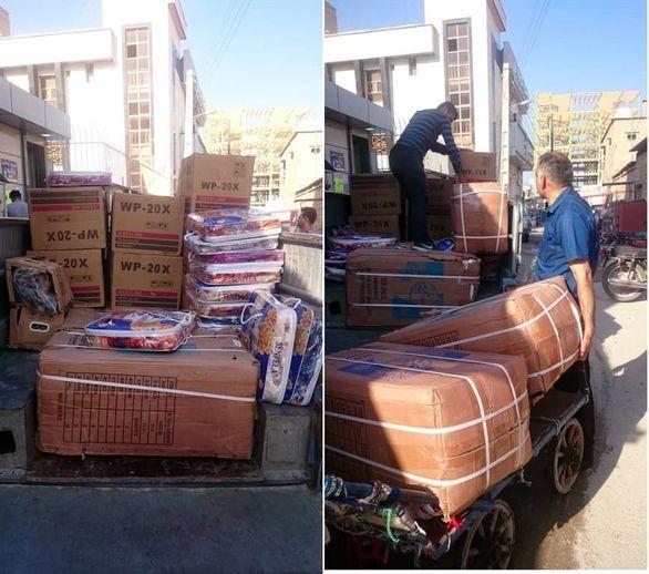 سومین محموله کمکهای اهدایی پتروشیمی پارس به خوزستان ارسال شد