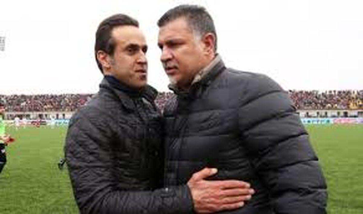 حمله تند علی کریمی به رئیس فدراسیون فوتبال + عکس