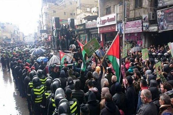 مردم اردن علیه «معامله قرن» تظاهرات کردند