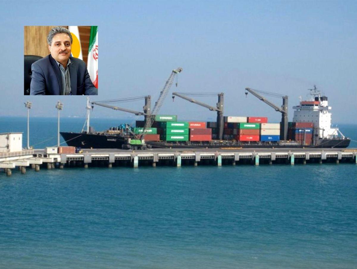 صادرات بیش از 132 هزار تن انواع محصولات از اسکله کاوه منطقه آزاد قشم