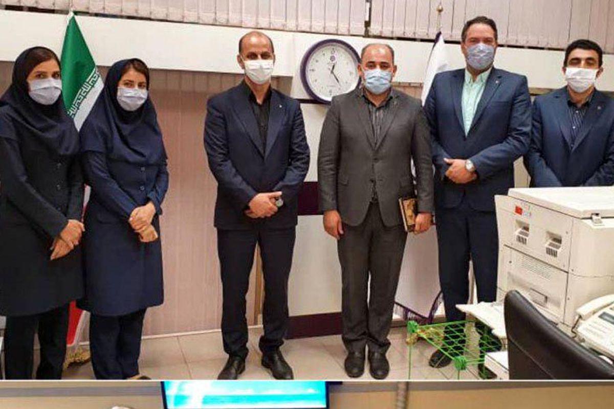 بازدید معاون عملیات بانکی، بانک ایران زمین از شعب استان تهران