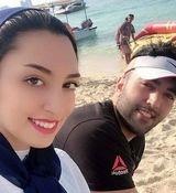 عکس کیمیا علیزاده و همسرش در سالگرد ازدواجشان + عکس دونفره
