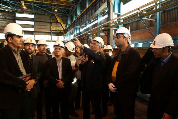 بازدید مسئولین شستا از خط تولید و پروژه های توسعه ذوب آهن اصفهان
