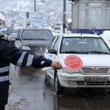 بارش برف در 4 جاده کشور