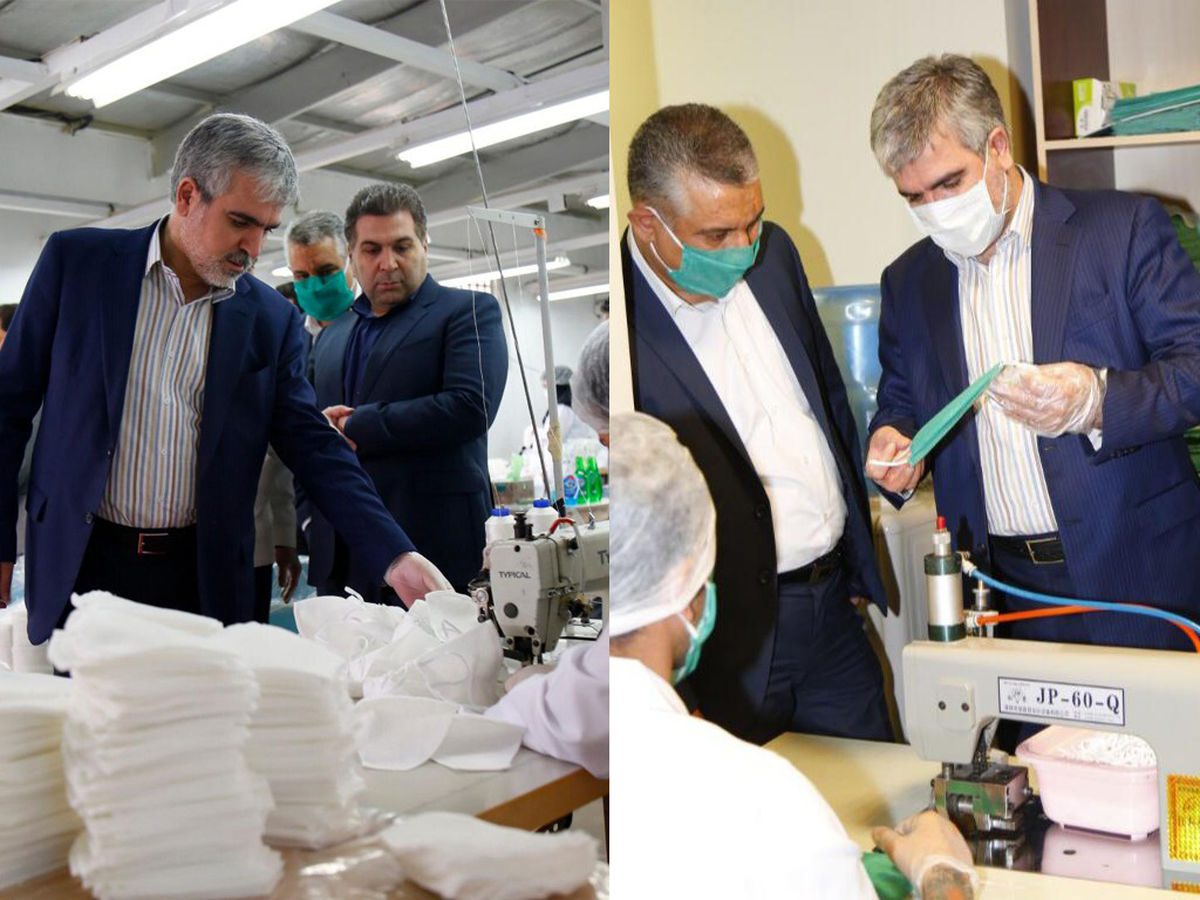 راهاندازی جهادی دو سایت تولید ماسک بهداشتی در سایپا