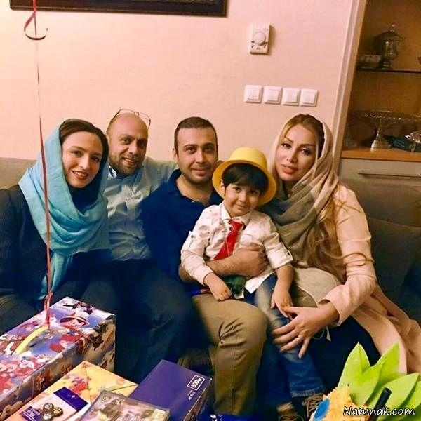 گلاره عباسی و همسرش به همراه محسن چاوشی و اسپاکو