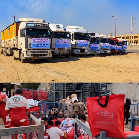 کمکهای  فولاد هرمزگان در راه مناطق سیل زده شرق استان هرمزگان