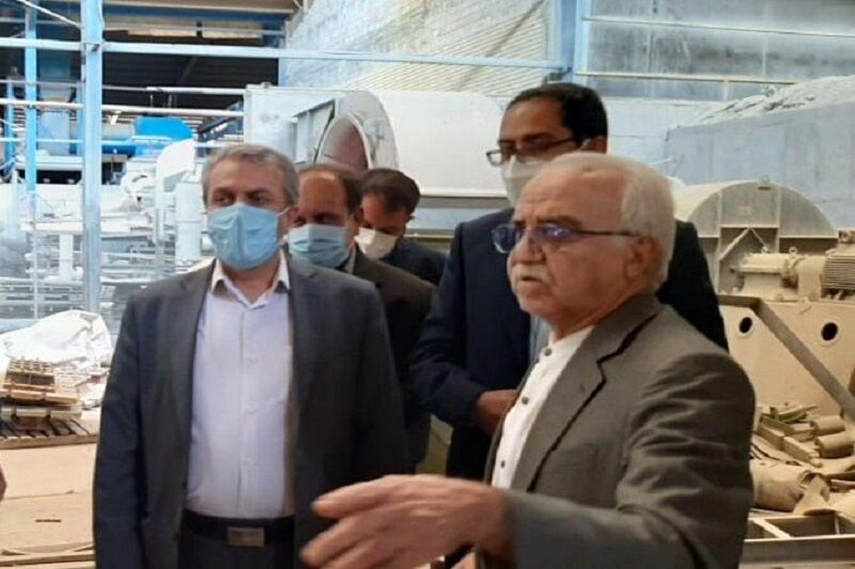 بازدید وزیر صمت از کارخانه آجر دهدشت